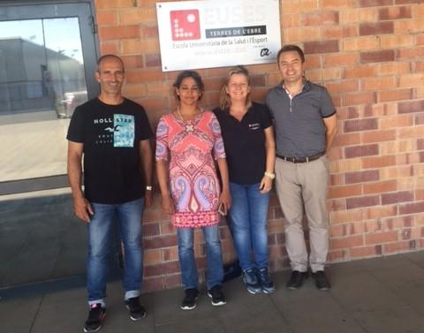 La Dra. Kulkanti Barboza, de la Universitat de Münster, visita les instal·lacions d'Amposta i explora vies de col·laboració amb els dirigents del Grau en CAFE