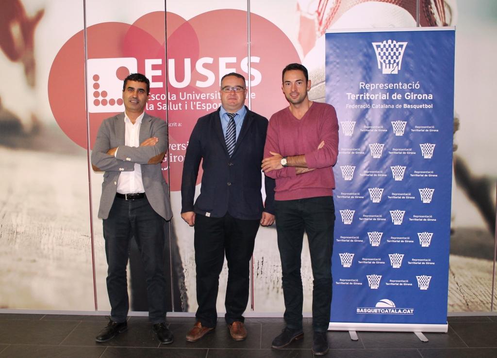 L'Escola Universitària de la Salut i l'Esport signa un acord de col·laboració amb la Federació Catalana de Basquet