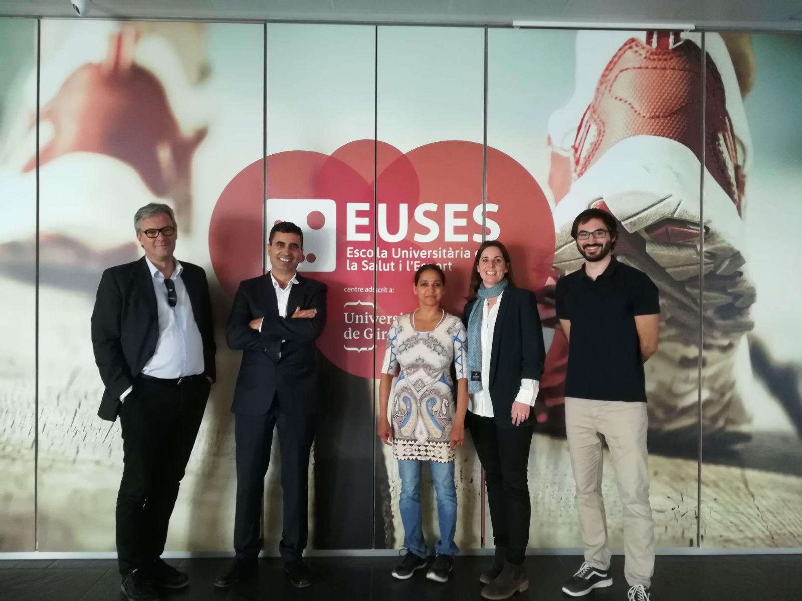 Visita a EUSES-UdG de la Dra. Kulkanti Barboza (Münster University) i de Jorg Rudolf Zimmer per traçar línies de col·laboració en mobilitat internacional entre les dues universitats
