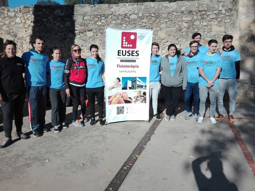 L'Escola Universitària de la Salut i l'Esport col·labora en la marxa popular solidària ASIA, celebrada a Cervià de Ter