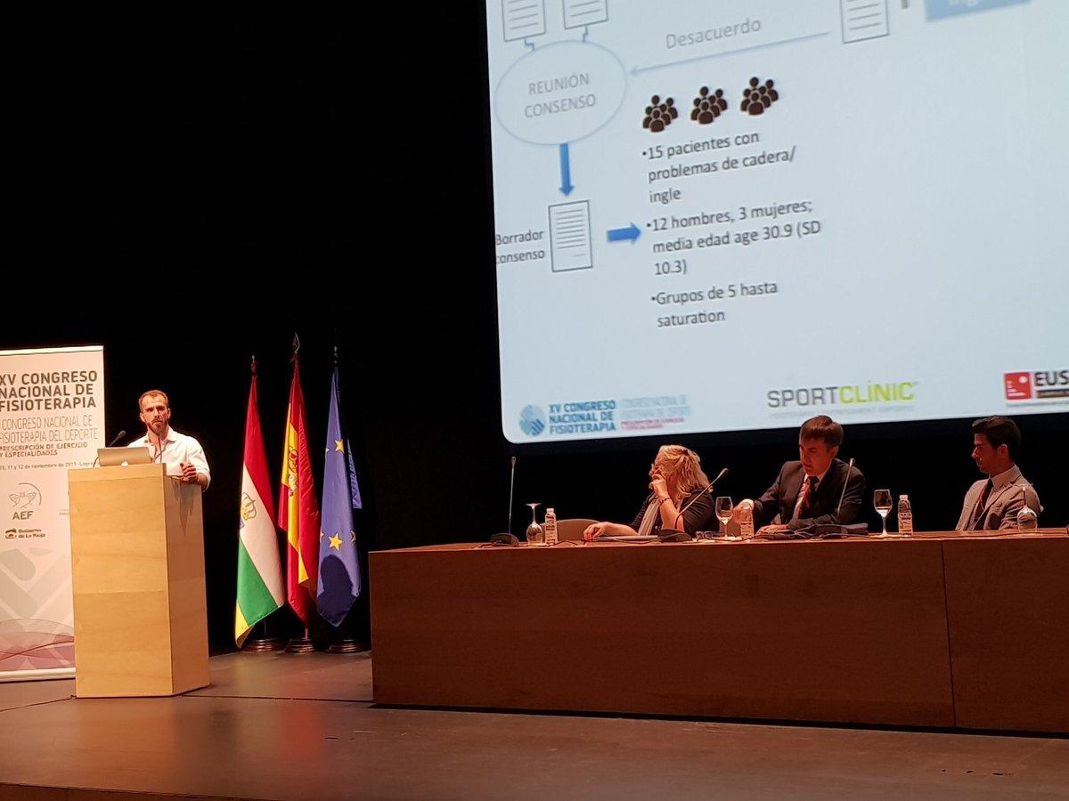 El professor d'EUSES Ernest Esteve imparteix una ponència sobre lesions inguinals en el 15è Congrés Nacional de Fisioteràpia, a Logronyo