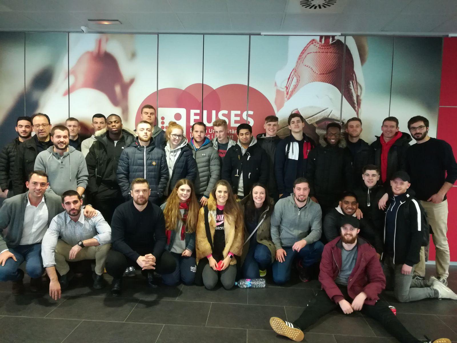 L'Escola Universitària de la Salut i l'Esport rep una vintena d'estudiants de Ciències de l'Esport de la Coventry University