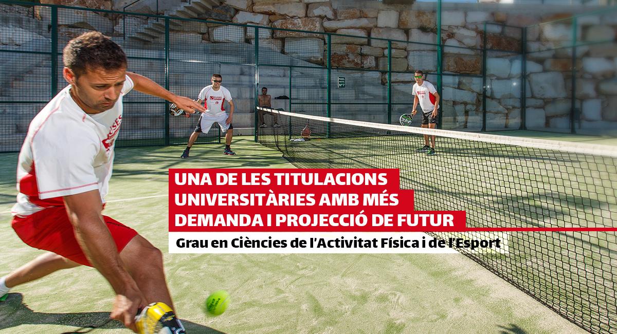 Grau en Ciències de l'Activitat Física i de l'Esport d'EUSES-UdG, una de les titulacions universitàries amb més demanda i projecció de futur