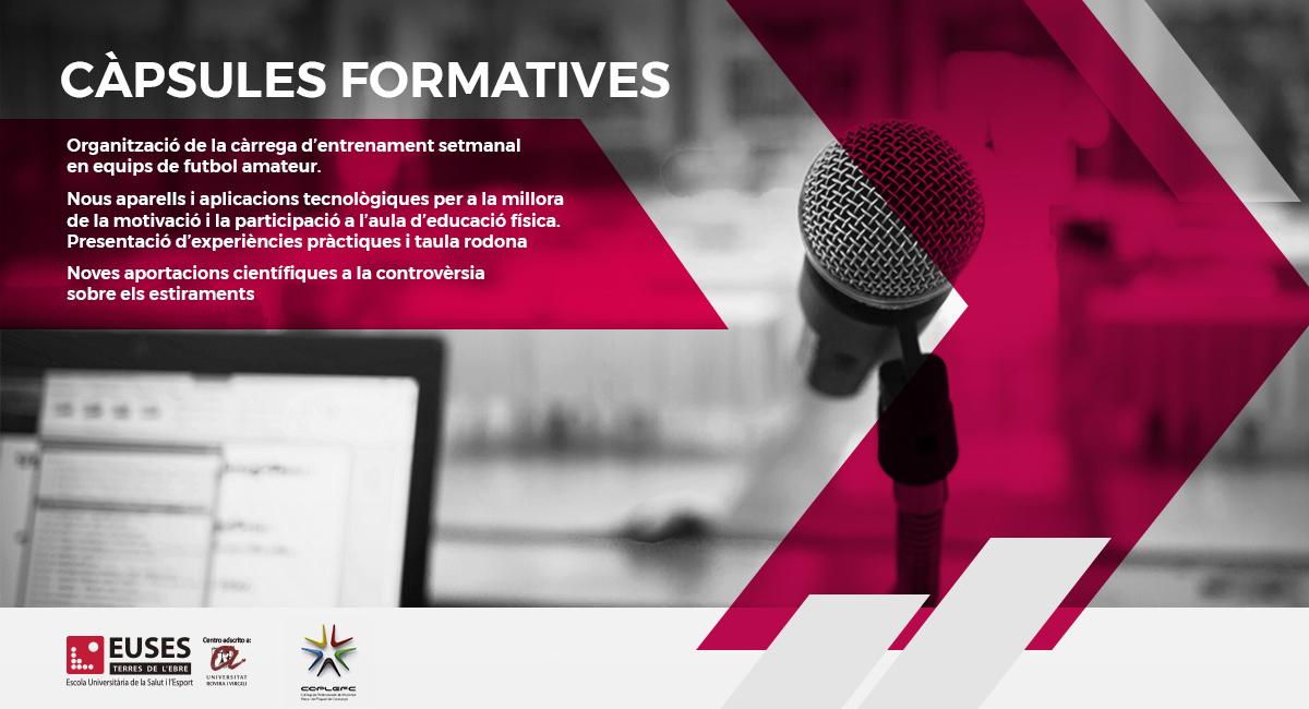 EUSES-URV presenta les noves Càpsules Formatives Gratuïtes