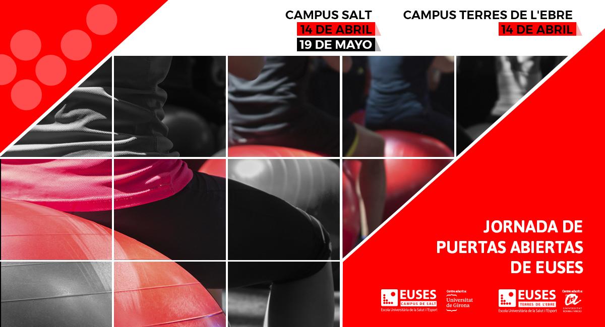 Ven a la Jornada de Puertas Abiertas de EUSES, la Universidad de la Salud y del Deporte. ¡Prepara tu futuro!