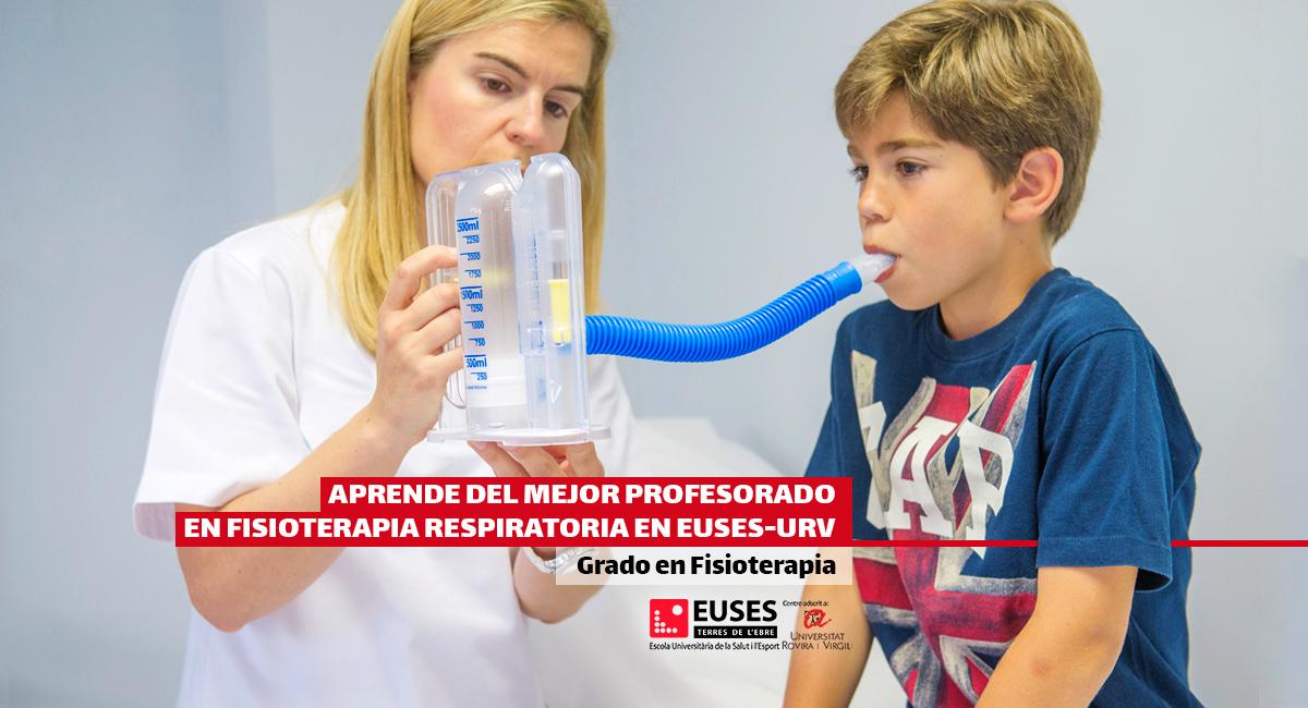 Aprende del mejor profesorado en fisioterapia respiratoria en EUSES