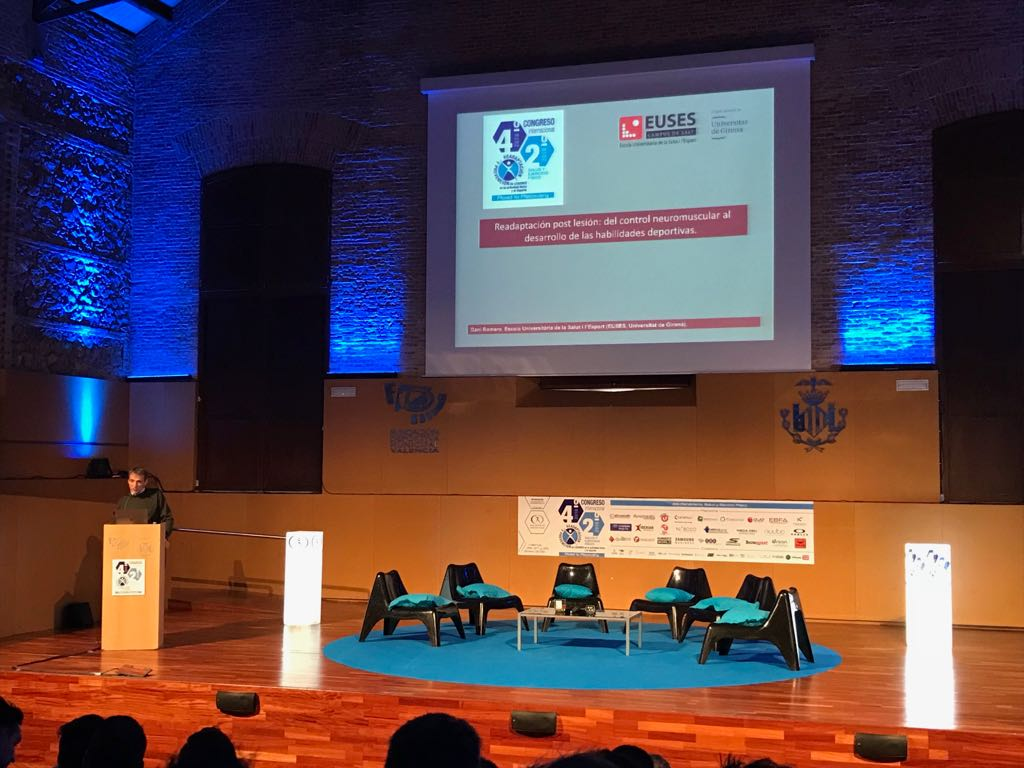 El professor d'EUSES-UdG, Daniel Romero, ponent al 4t Congrés Internacional de Readaptació i Prevenció de Lesions de València