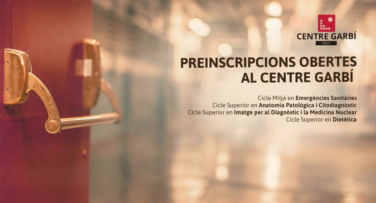El dilluns 9 d'abril obrim les preinscripcions dels Cicles Formatius del Centre Garbí