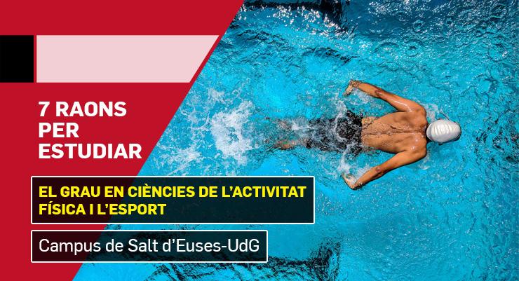 7 raons per estudiar el Grau en Ciències de l'Activitat Física i l'Esport al Campus de Salt d'EUSES-UdG