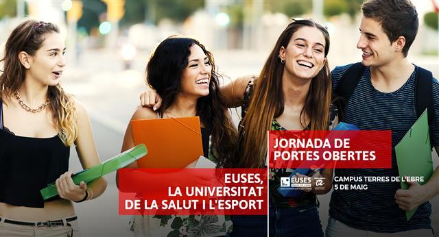[Recordatori] Última setmana per a inscriure's a les Jornades de Portes Obertes del Campus de Terres de l'Ebre d'EUSES-URV