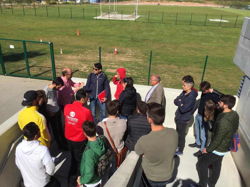 Visita dels estudiants de 3r de CAFE d'EUSES-TE per l'Anella Olímpica dels Jocs del Mediterrani de Tarragona