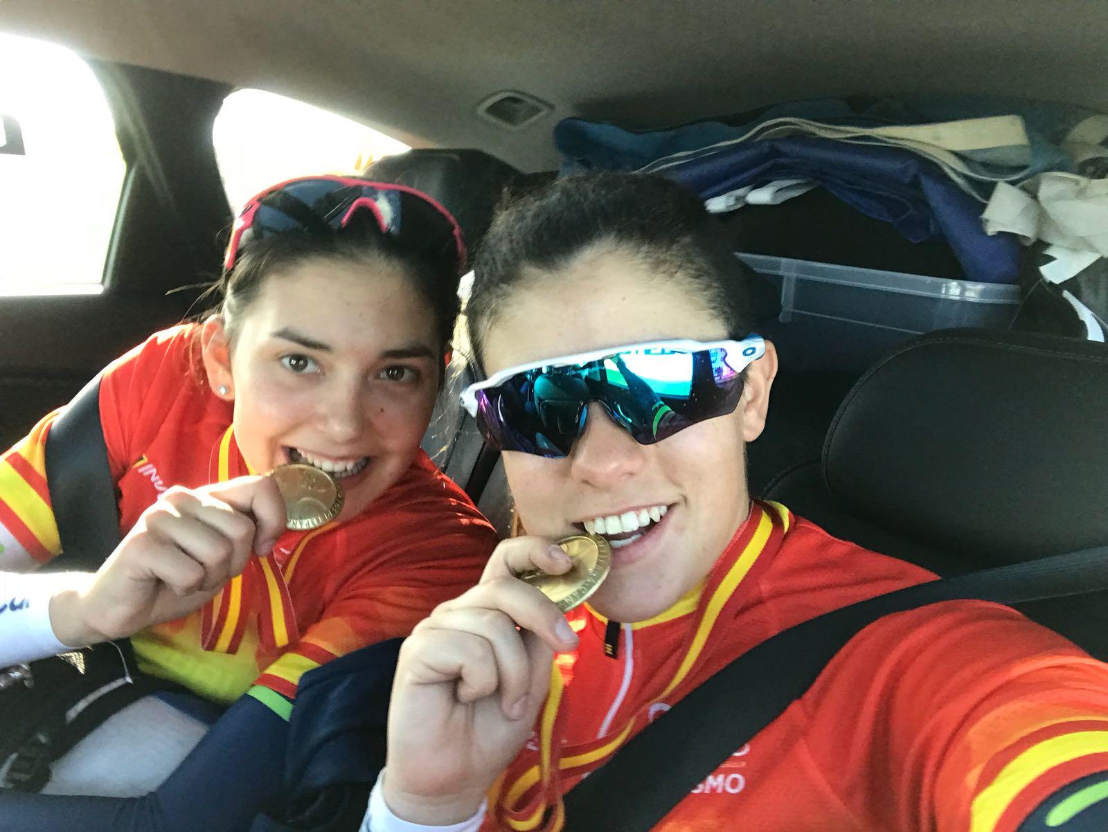 Dues medalles d'or per a l'estudiant de CAFE Esther Villaret en els campionats d'Espanya de ciclisme adaptat celebrats a Villadiego (Burgos)