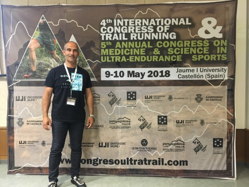 El cap d'estudis d'EUSES-URV, Pau Cecília, ha assistit al Congrés Internacional de Trail Running a la Universitat Jaume I de Castelló