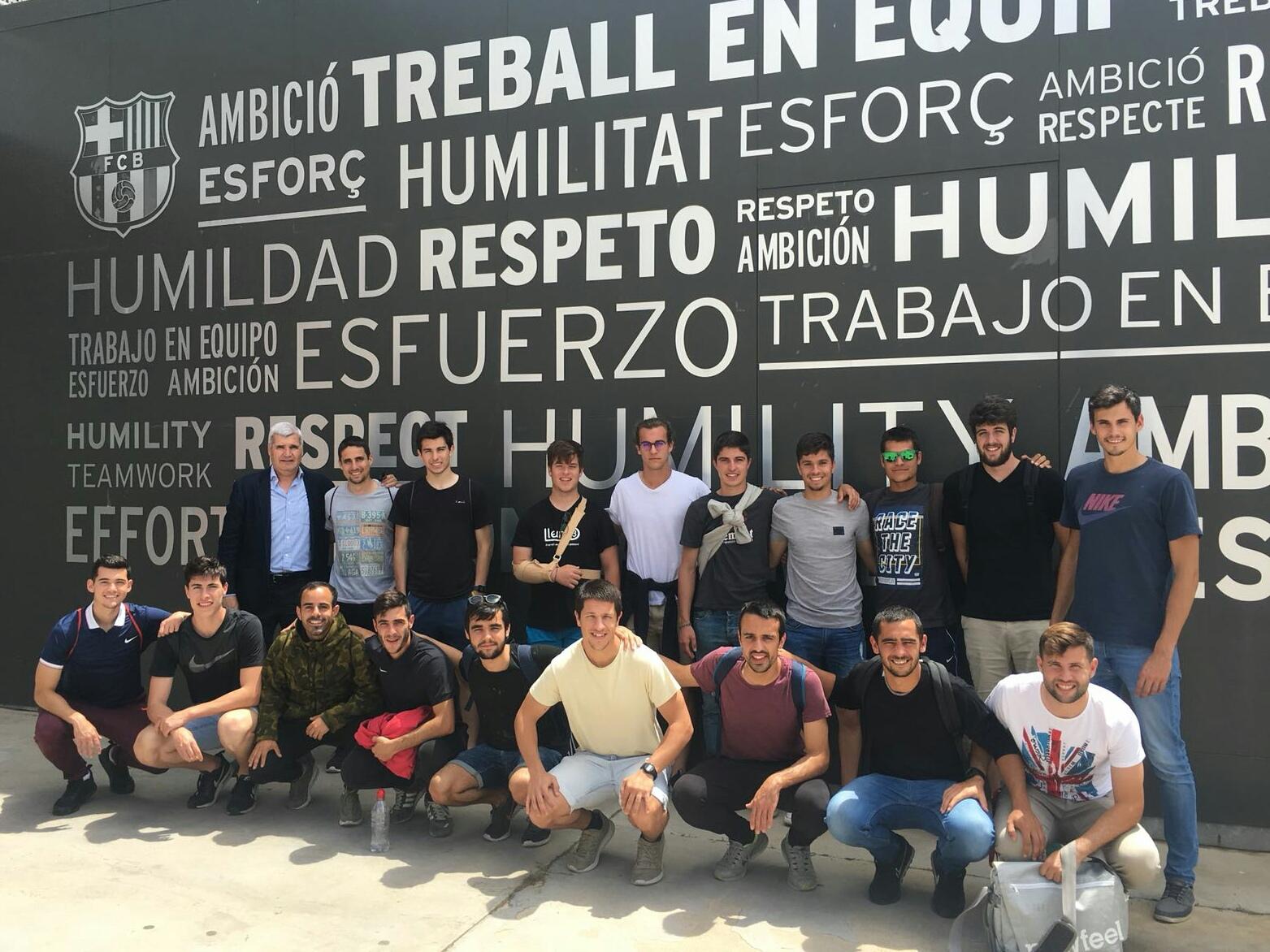 Els estudiants de 3r curs del Grau en CAFE d'EUSES-Campus de Salt visiten la ciutat esportiva Joan Gamper del FC Barcelona