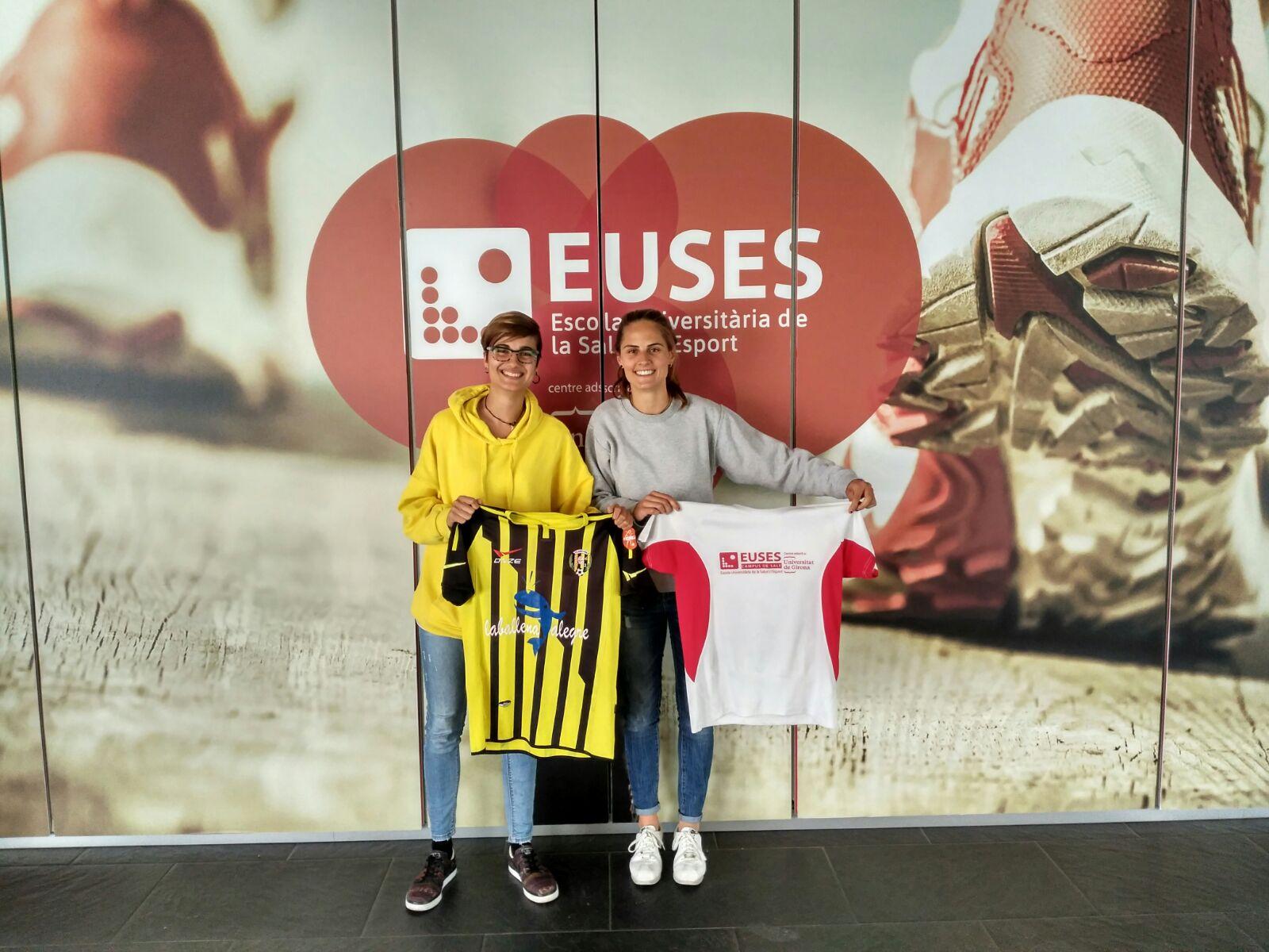 Blanca Cros i Marina Poyato, estudiants de 2n de CAFE a EUSES, obtenen l'ascens a segona divisió amb el Sant Pere Pescador