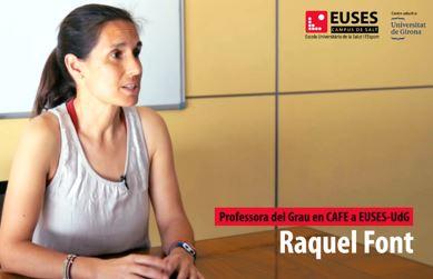 """Entrevista a Raquel Font, professora del Grau en CAFE a EUSES-UdG: """"Aconseguim individualitzar i apropar-nos a les necessitats dels alumnes, ens ajustem a les seves motivacions"""""""