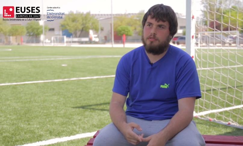 """Vídeo entrevista a Marc Busquets: """"Fent les pràctiques al Girona FC hem tingut accés a  programari exclusiu d'equips de primer nivell"""""""