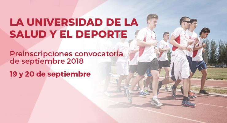 Mañana empieza la convocatoria de septiembre. Estudia en EUSES, la Universidad de la Salud y el Deporte