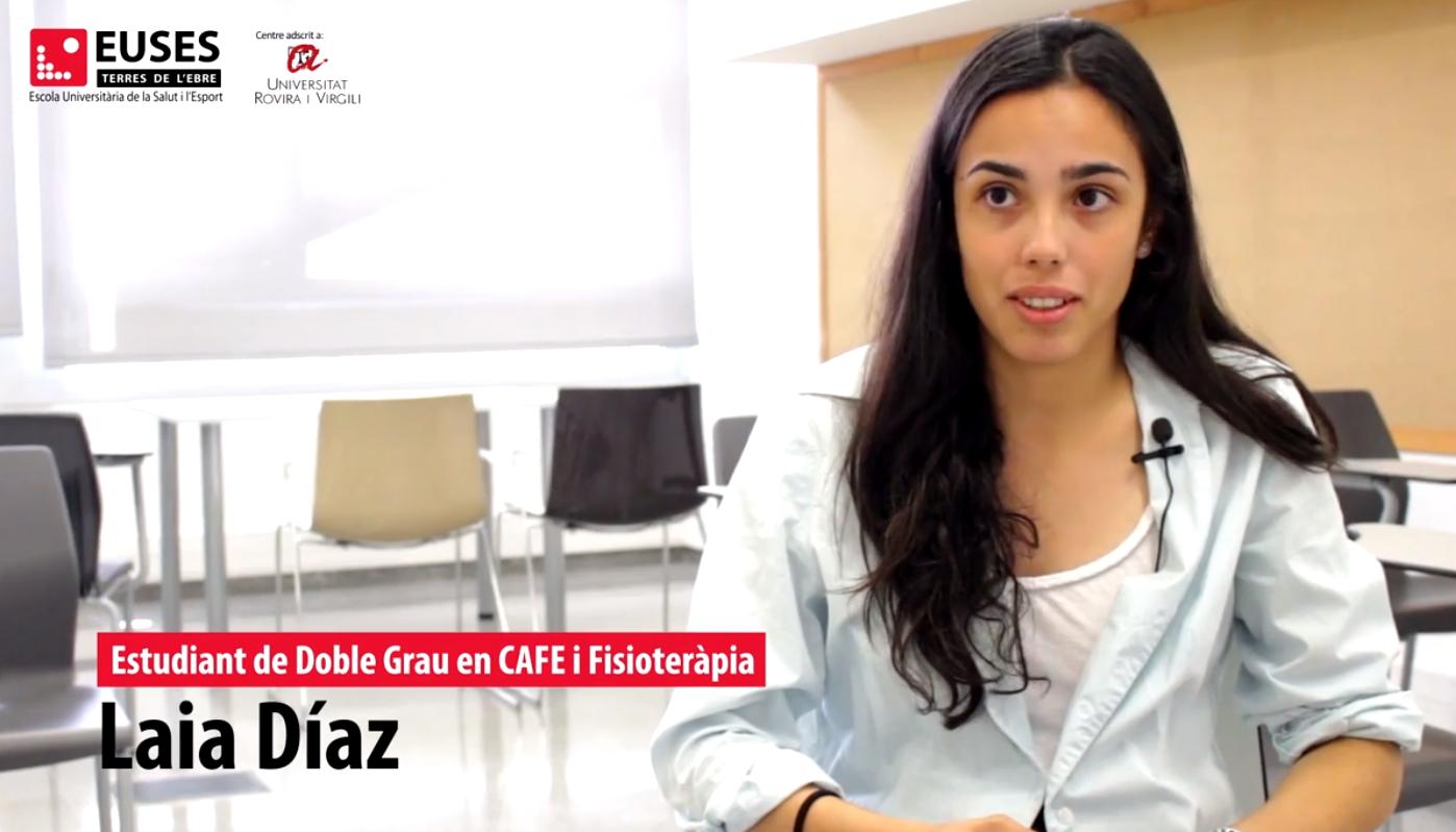 """Laia Díaz, estudiante del Doble Grau en EUSES-URV: """"El hecho de estudiar dos grados a la vez es muy beneficioso para tu futuro profesional"""""""