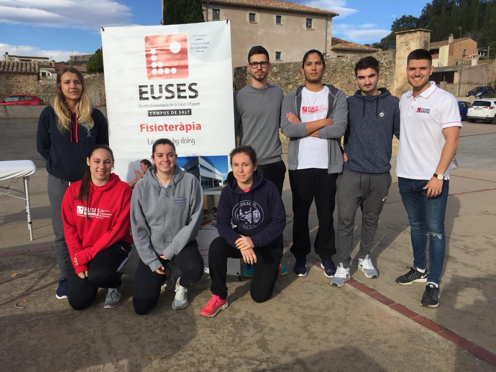Estudiants del Grau en Fisioteràpia d'EUSES col·laboren en la 3a Marxa Trail Solidària ASIA, a Cervià de Ter