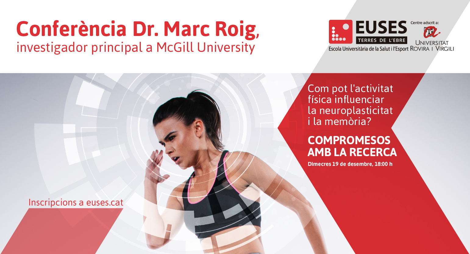 Exercici per canviar el cervell · Conferència de Marc Roig (McGill University)