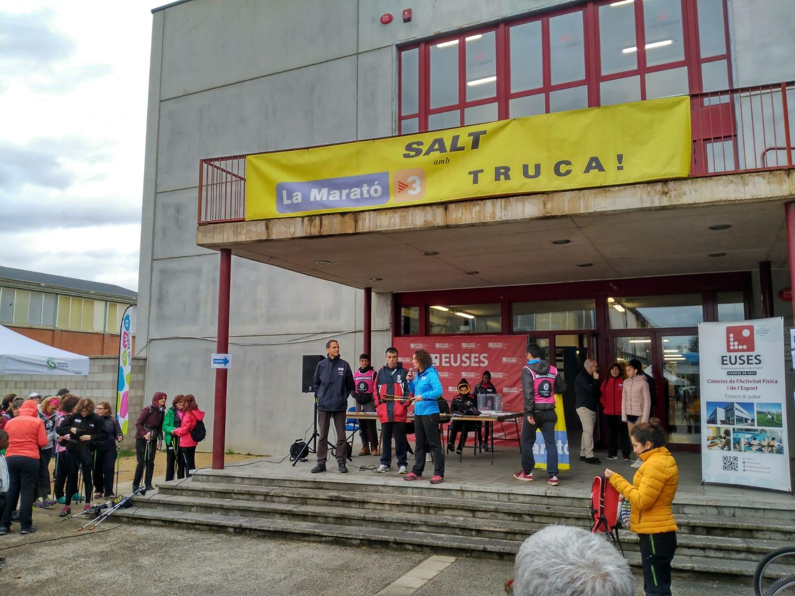 EUSES, l'Ajuntament de Salt i la Generalitat organitzen conjuntament, per quart any seguit, la Marató de TV3 de Salt