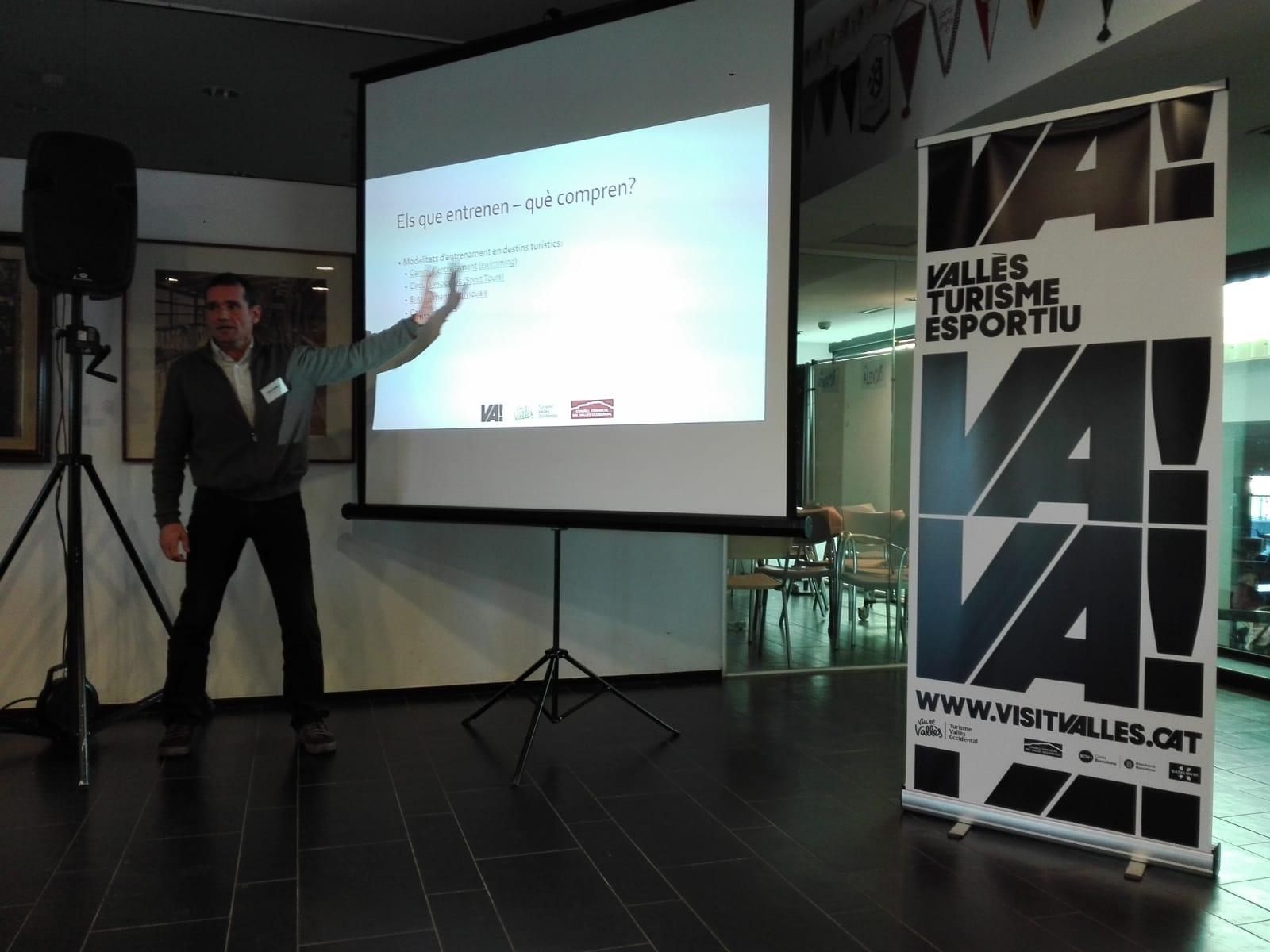 El professor de CAFE d'EUSES Oriol Sallent participa en la 2a Jornada Professional de Turisme Esportiu del Vallès Occidental