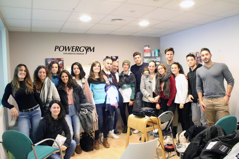 Els estudiants de 1r curs del Cicle Formatiu de Grau Superior de Dietètica del Centre Garbí visiten les instal·lacions de Powergym, a Arbúcies